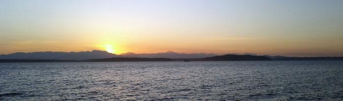 Sunset at Alki Beach