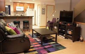Living room + bar stools