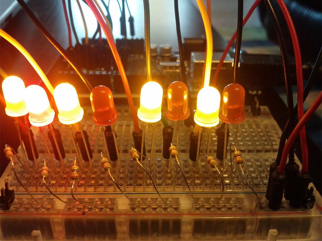 Arduino Binary Thermometer