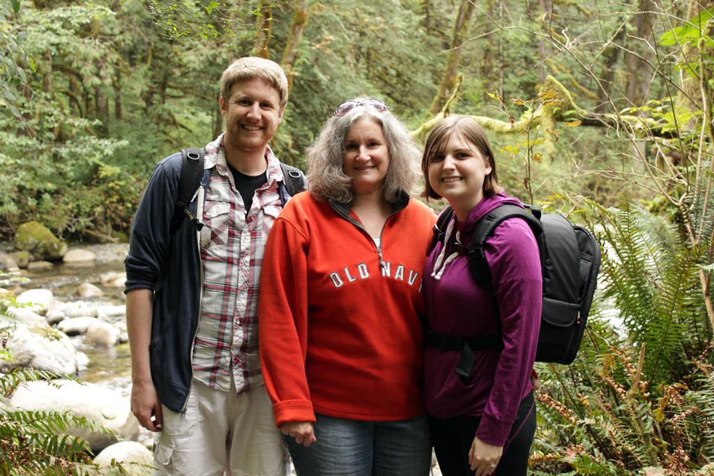 Us Hiking Wallace Falls