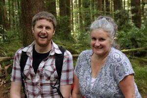 Nick & his mom at Wallace Falls