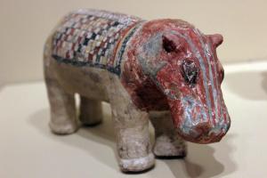 Ceramic Egyptian hippopotamus