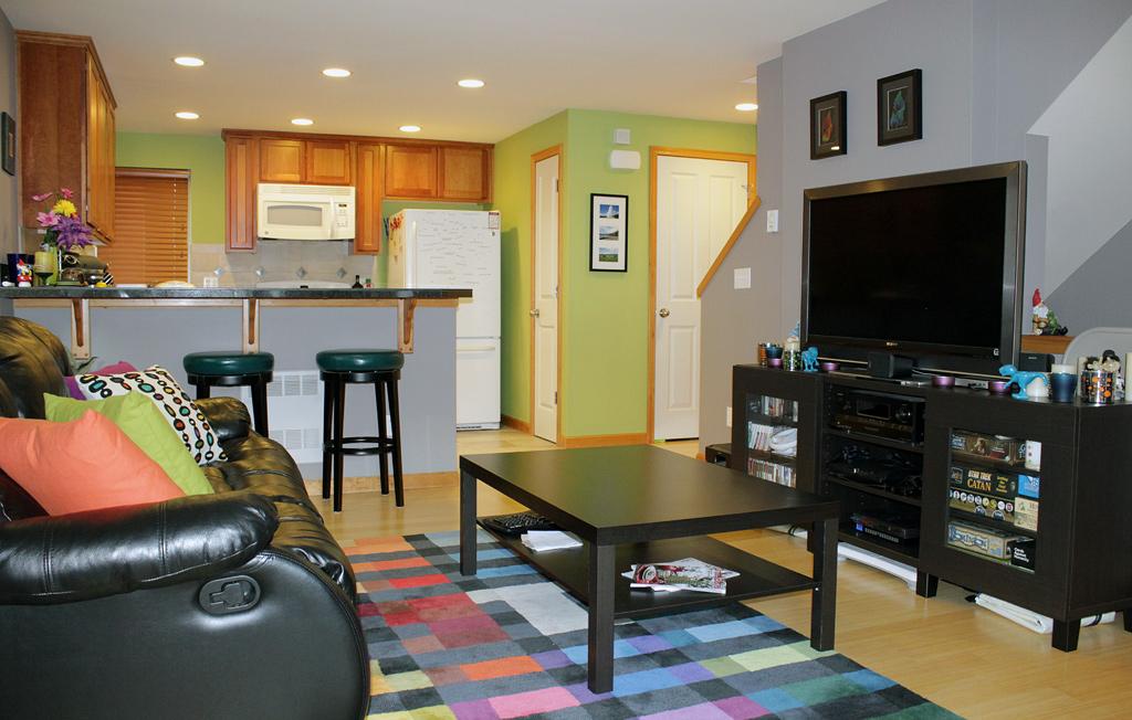 Living Room & Kitchen - After