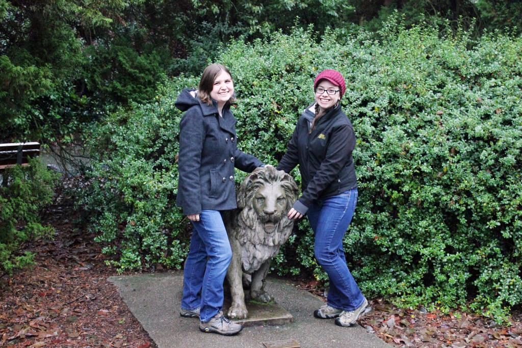 Marie & Amanda w/ Lion